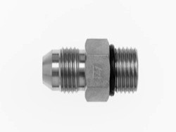 Straight Adapter 10 Units Steel 1-1//4 in Male Flat Face O-Ring x 1 in Male O-Ring Boss Brennan